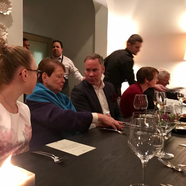 Dinner with Dr Gro Harlem Brundtland