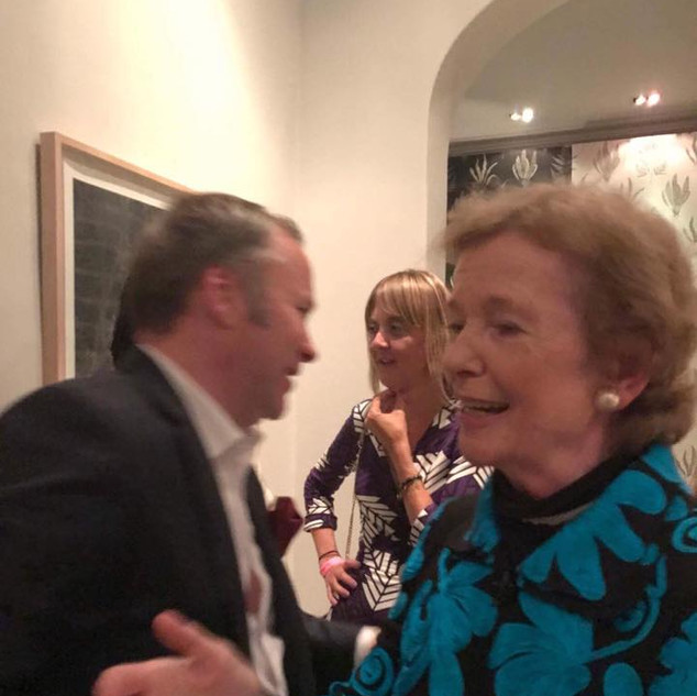 President Mary Robinson and me