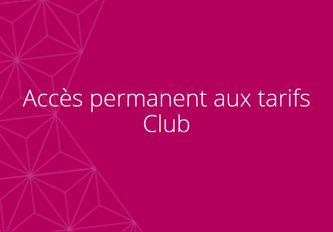 Tarifs CLUB