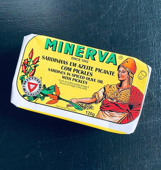 Minerva Sardines with pickles