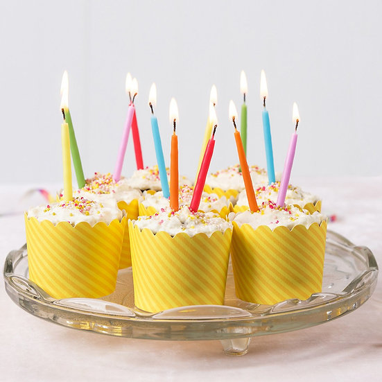 Mini Rainbow Cake Candles