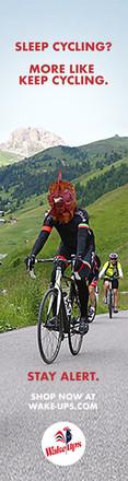 Cyclist Banner Ad