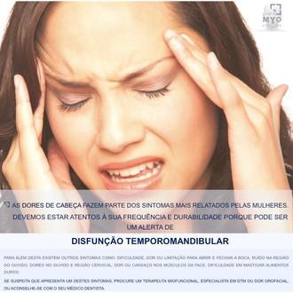 DORES DE CABEÇA- DISFUNÇÃO TEMPOROMANDIBULAR (DTM)
