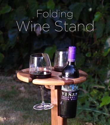 Folding Picnic Wine Stand