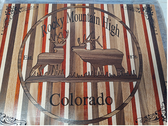 Rocky Mountain High - Colorado Cutting Board