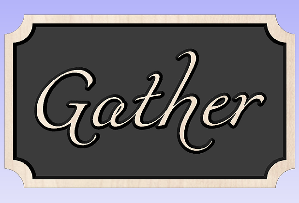 Farmhouse Gather Sign