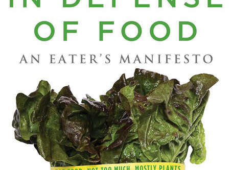 "Book Recommendation: ""In Defense of Food - The Myth of Nutrition and the Pleasures of Eating"""