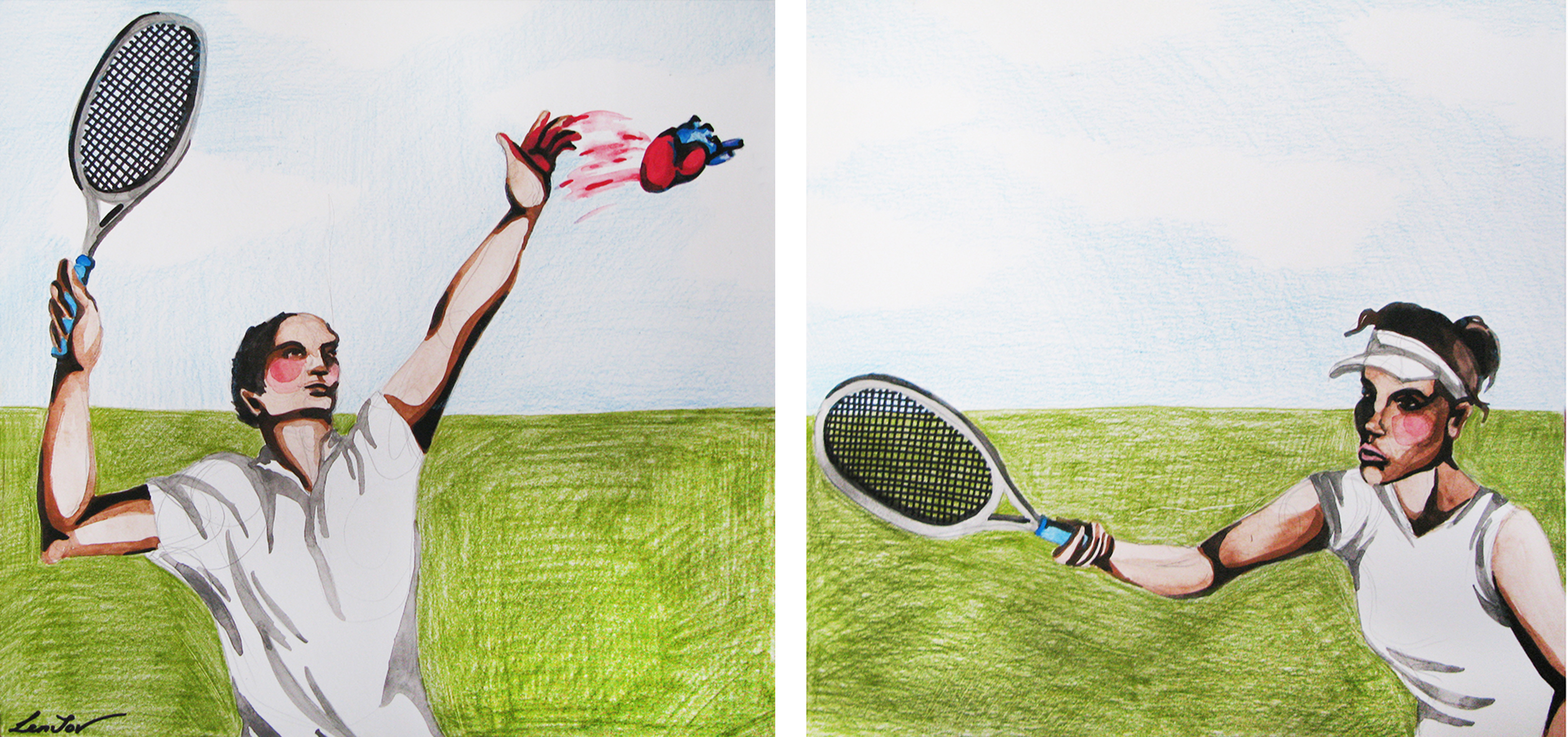 "Diptych ""Play in love"""