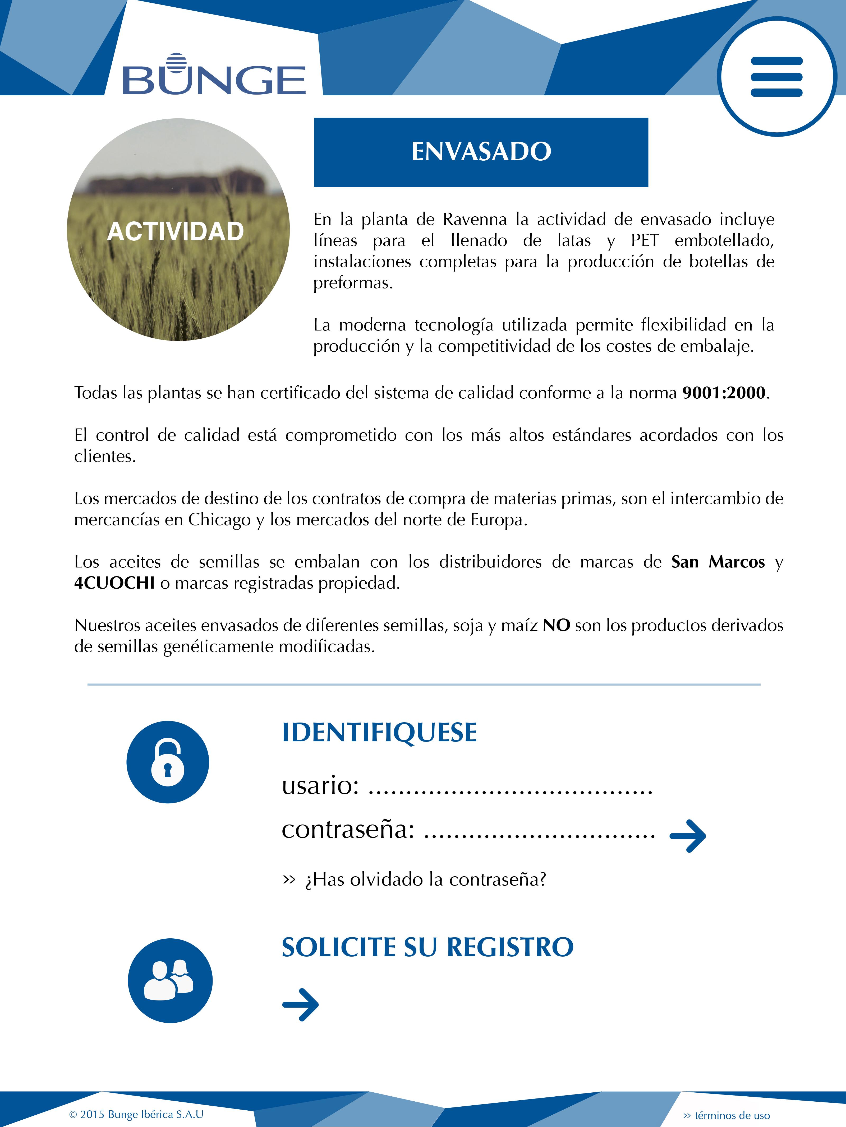 Mobile version of web site