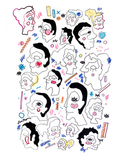 """Silkscreen series """"Faces""""/ #1"""