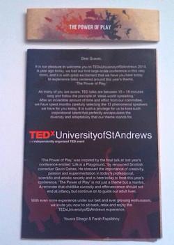 TEDx St Andrews programme