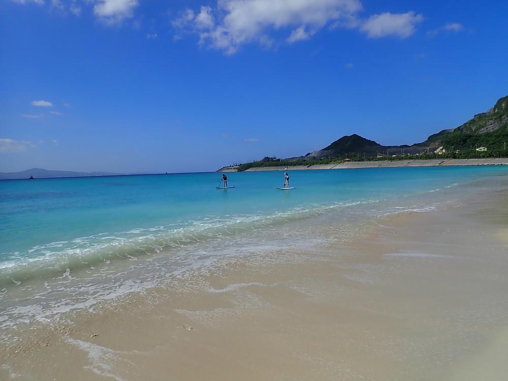 沖縄北部でサップ(スタンドアップパドル )
