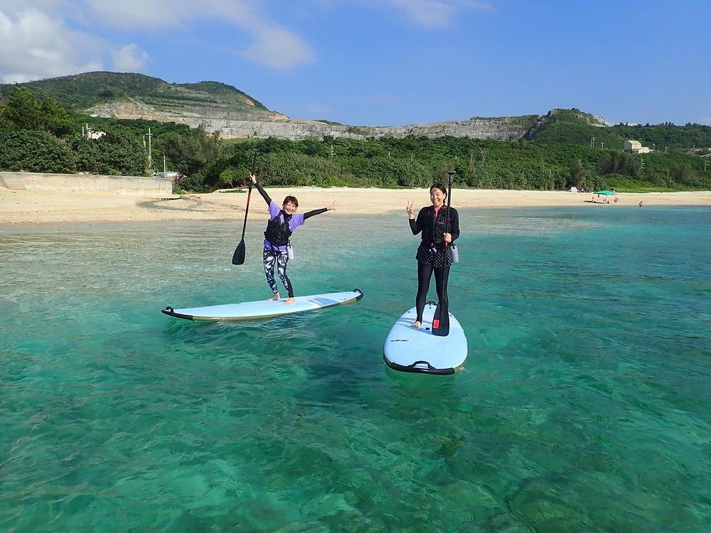 沖縄北部でサップと体験ダイビング