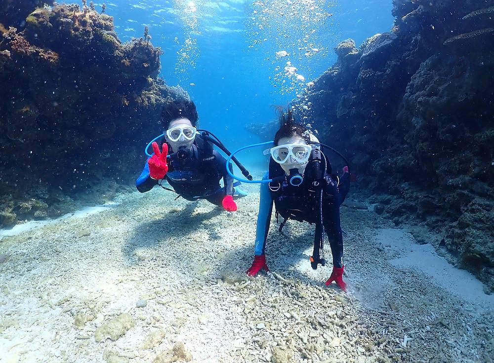 沖縄ゴリラチョップ で体験ダイビング