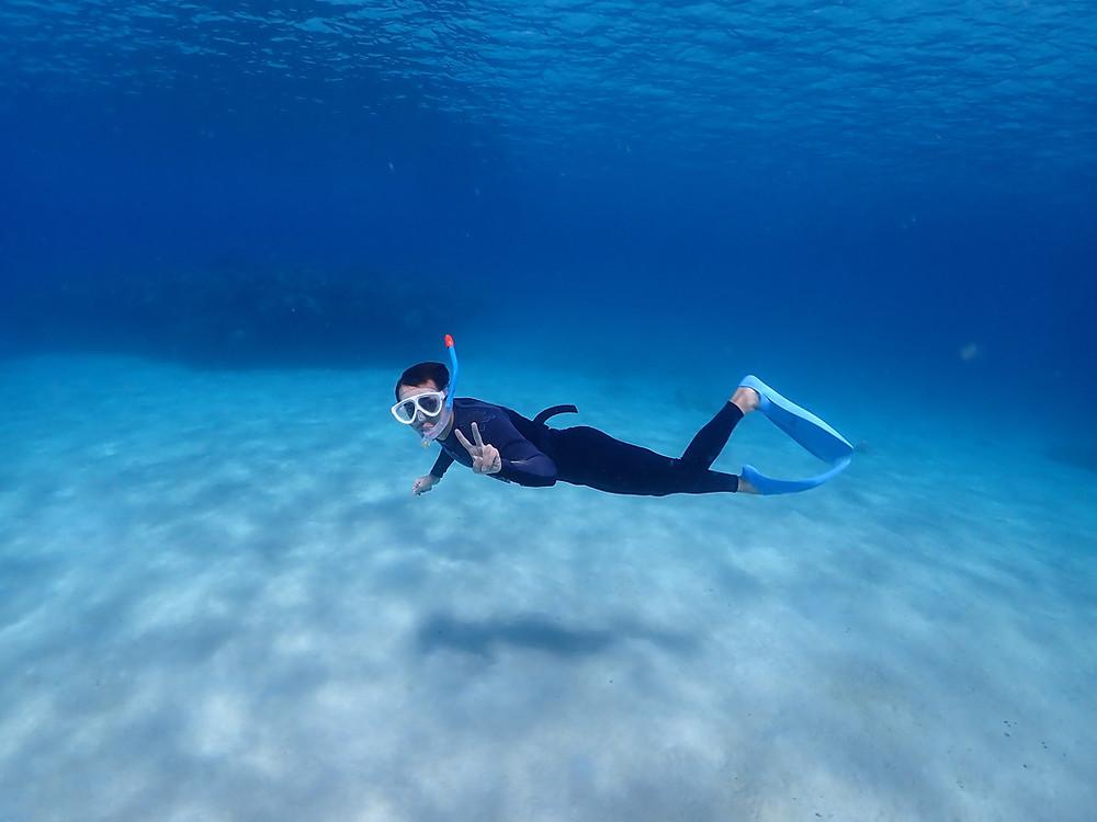 沖縄でスキンダイビング