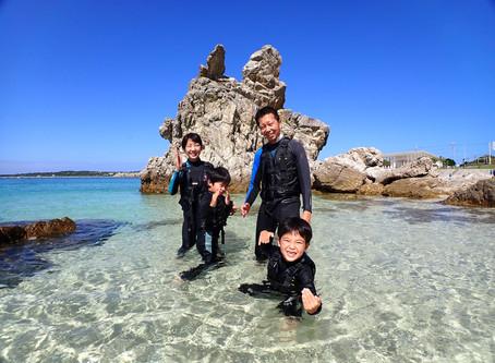 沖縄本部町ゴリラチョップ ビーチシュノーケリング