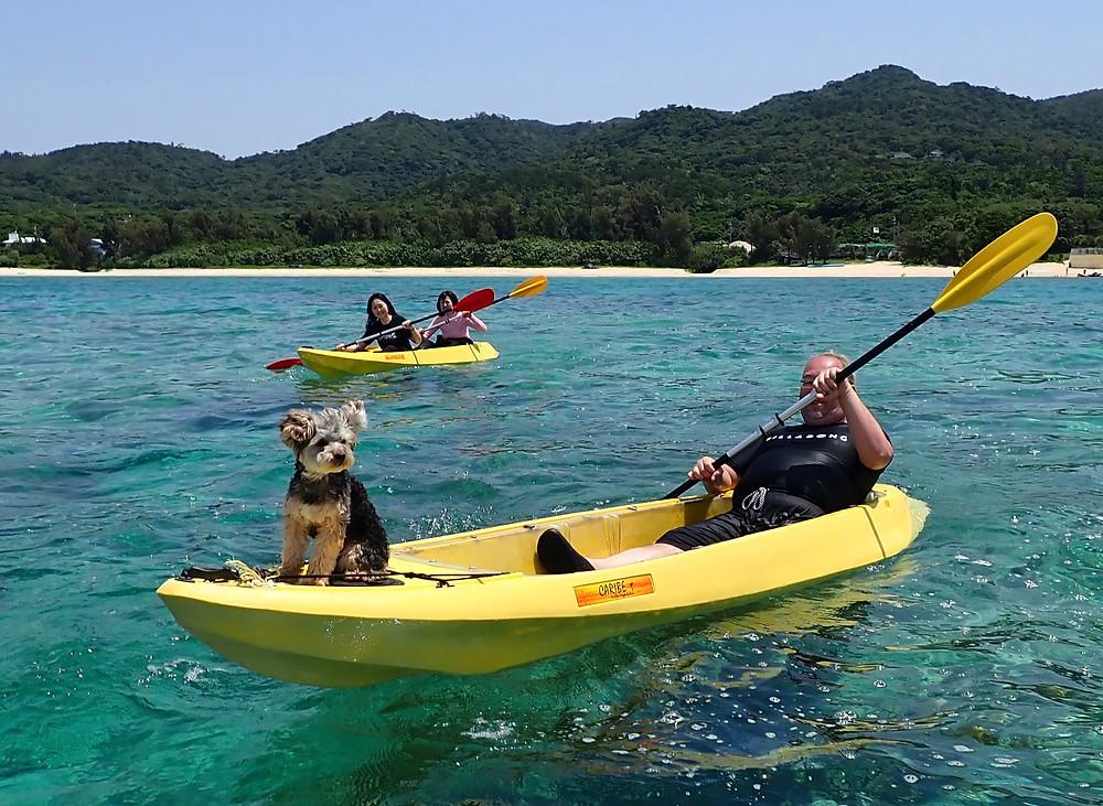 沖縄本島北部本部町でシュノーケリングとクリアーカヤック