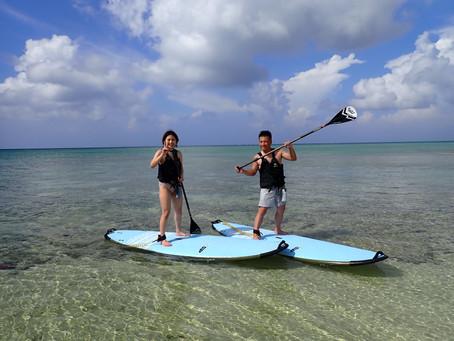 沖縄 サップ+スキンダイビング  本部半島新里