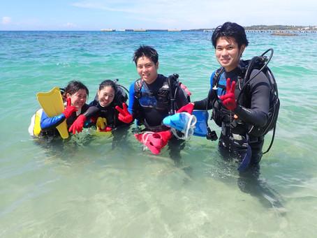 ビーチ体験ダイビング ゴリラチョップ