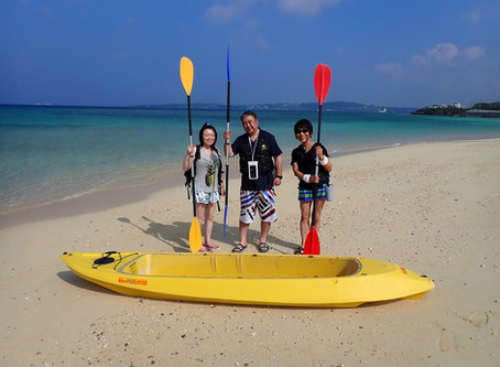沖縄 クリアーカヤック+体験ダイビング 本部町塩川ビーチ