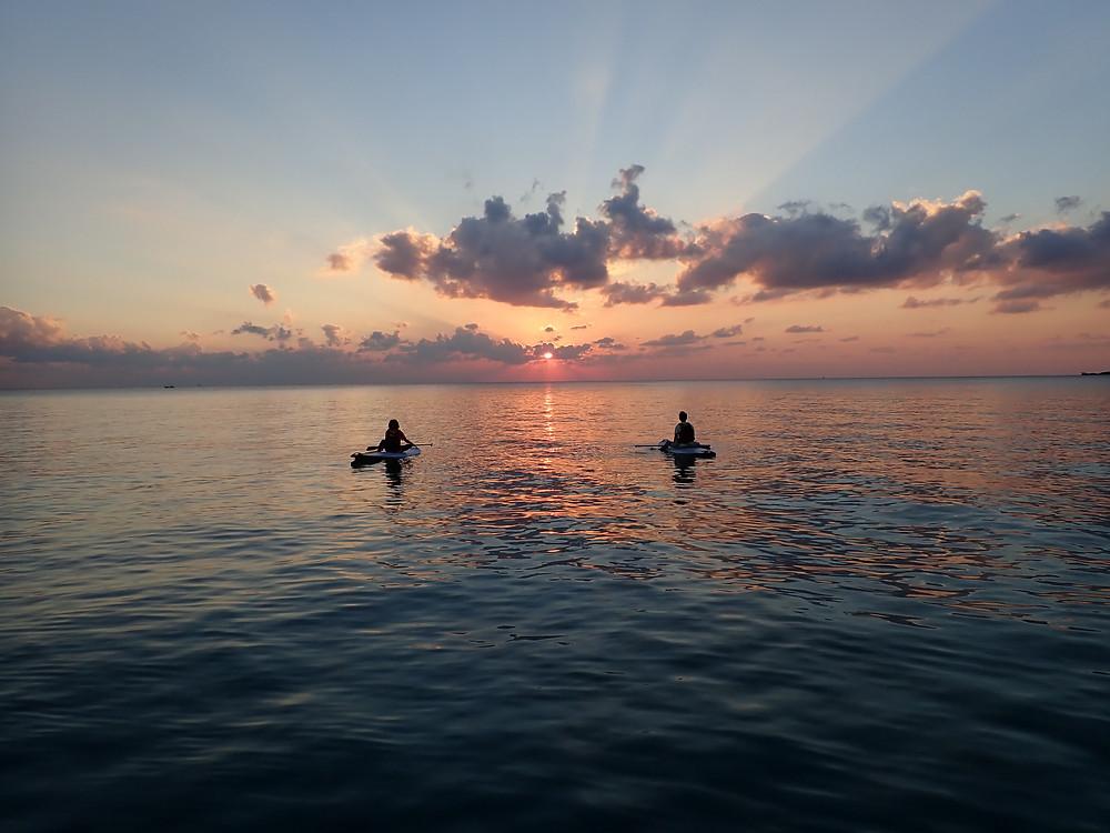 沖縄北部本部町でサンセットサップ