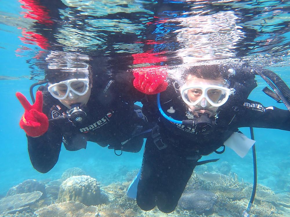 冬でも沖縄本部町で体験ダイビング