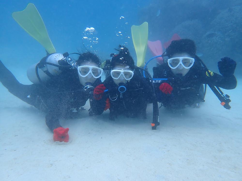 沖縄北部本部町ゴリラチョップ で体験ダイビング