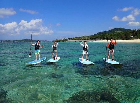 沖縄サップ+スキンダイビング 本部町塩川ビーチ