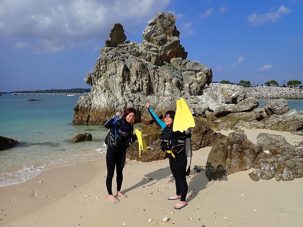 沖縄本部町でゴリラチョップ で体験ダイビング