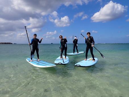沖縄本部町 塩川ビーチでサップ+シュノーケリング