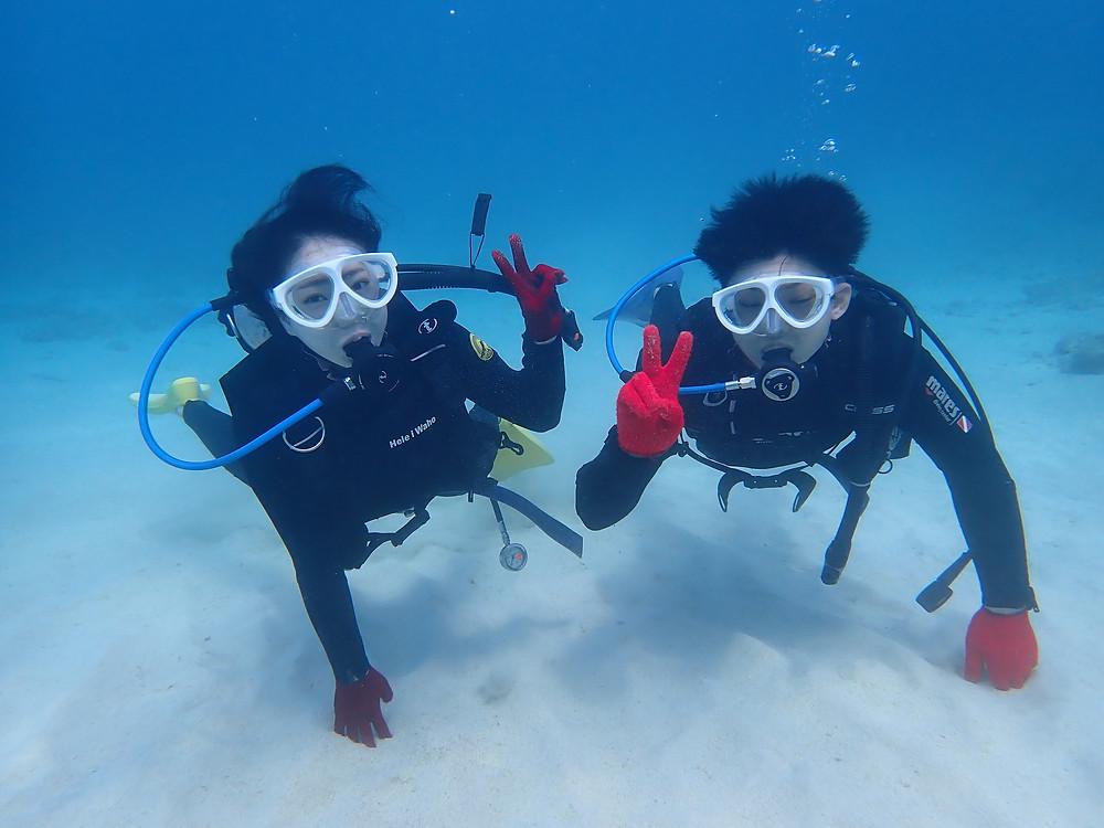 4月、5月沖縄本部町で体験ダイビング
