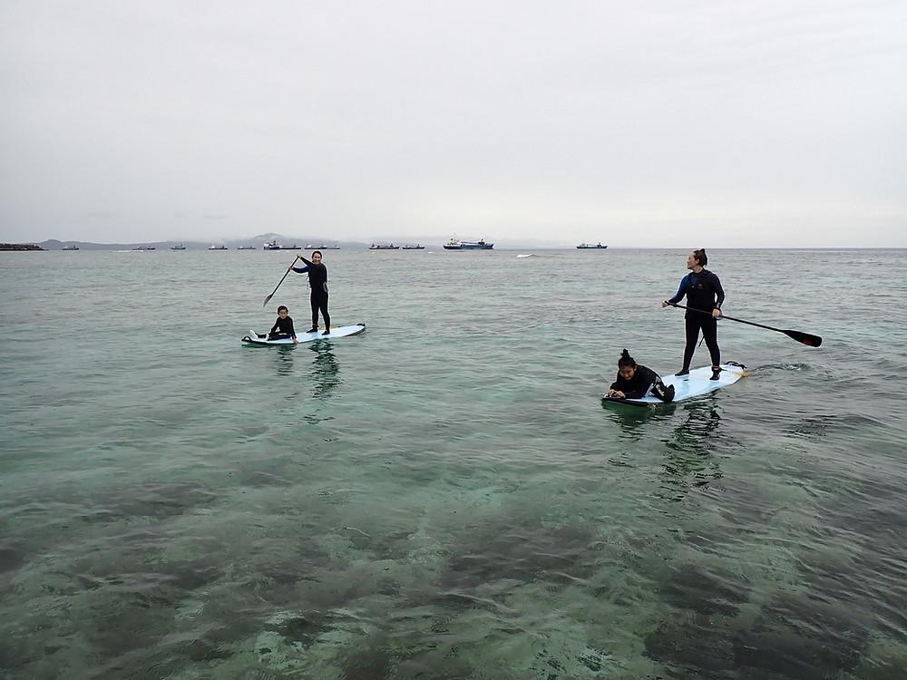 沖縄本部町でサップ+スキンダイビング