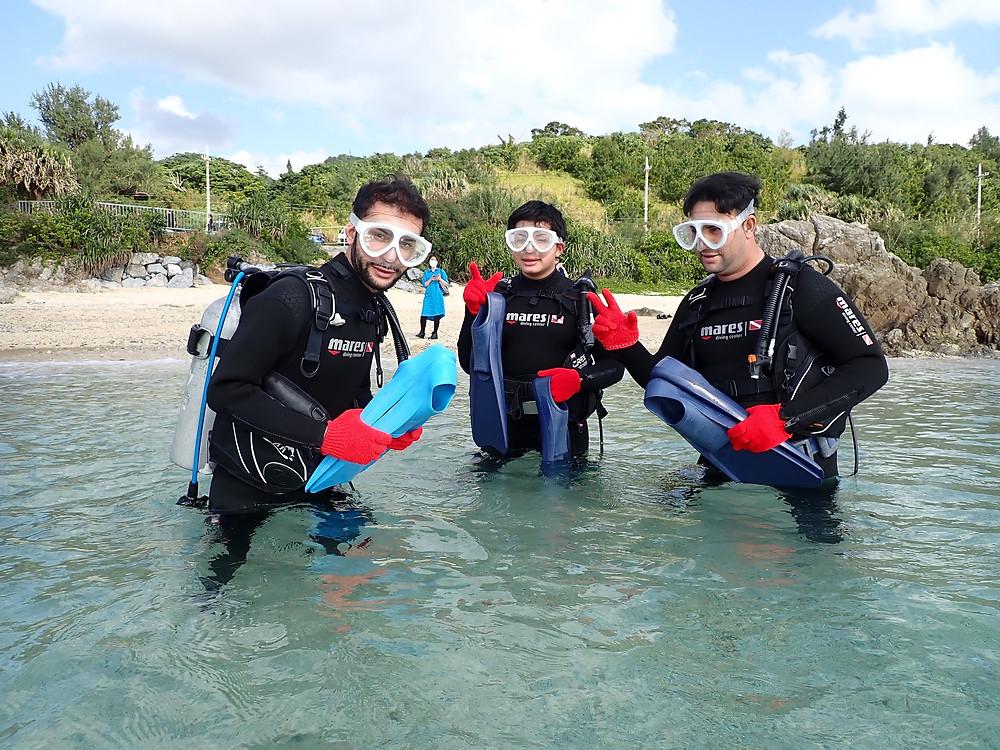沖縄本部町で体験ダイビング