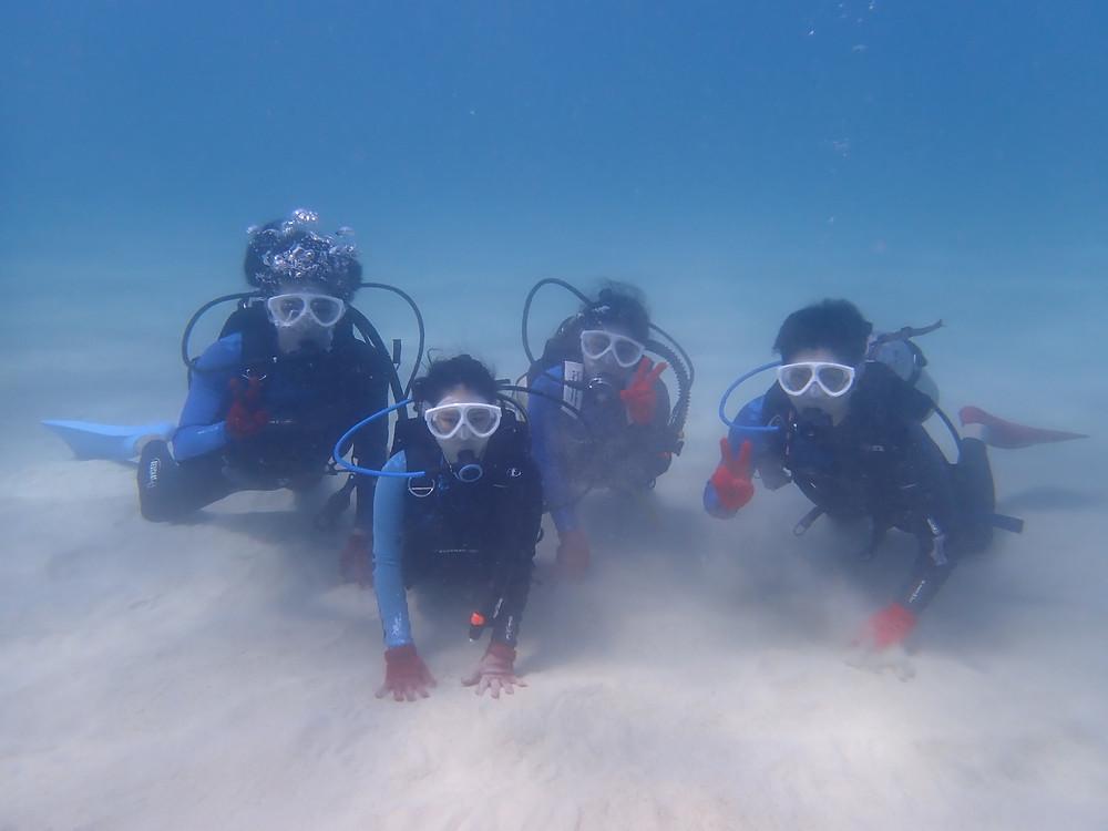 体験ダイビング 沖縄本部町