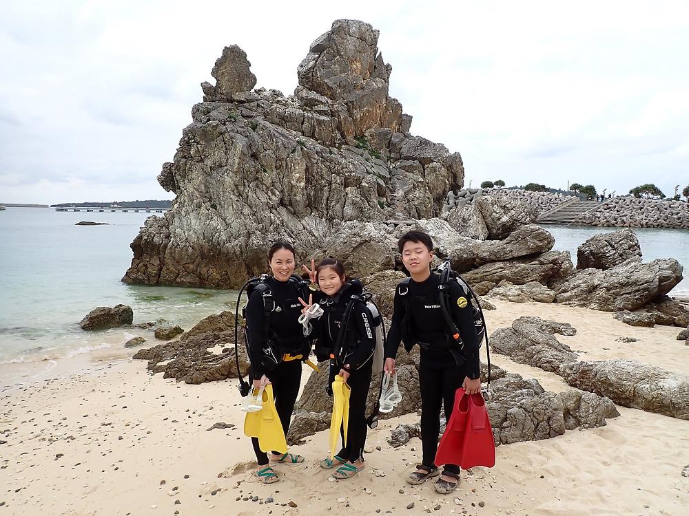 沖縄本部町ゴリラチョップ で体験ダイビング