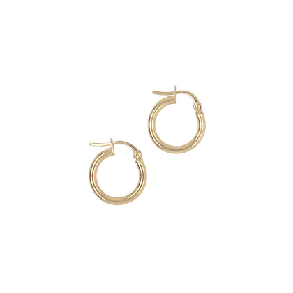 14KY Small Round Hoop Earring