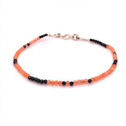Bella Beaded Bracelet - Chalcedony & Hematite