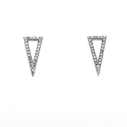 14KW Geometric Triangle Earrings