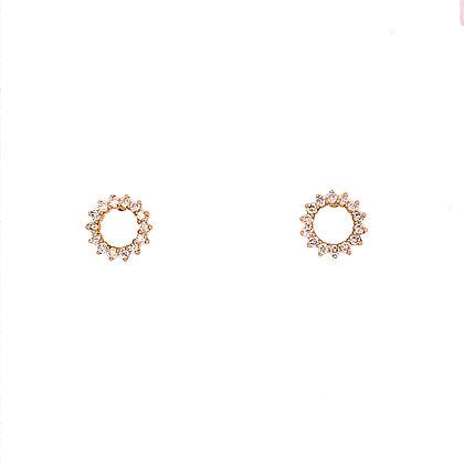 Bassali 14KY Circle Diamond Earrings