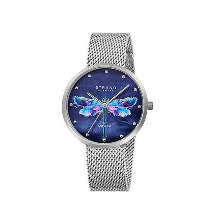 Dragonfly - Silver Blue - Strand