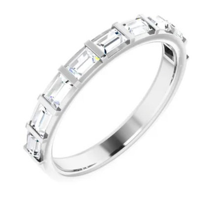 14KW Diamond Baguette Anniversary Band