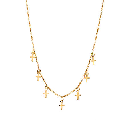 14KY Dangling Cross Necklace