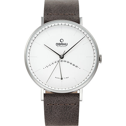 Elm - Clay - Dual Time Watch