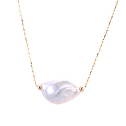 14KY Keshi Pearl Necklace