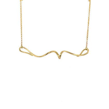 14KY Swirl Bar Necklace