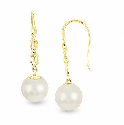 14KY Pearl Twist Earrings