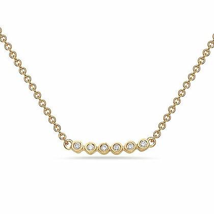 Bassali 14KY 6 Bezel-Set Diamond Pendant