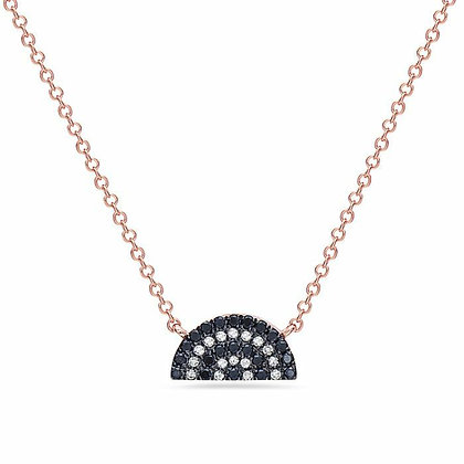 Bassali 14KR Black Diamond & Diamond Necklace