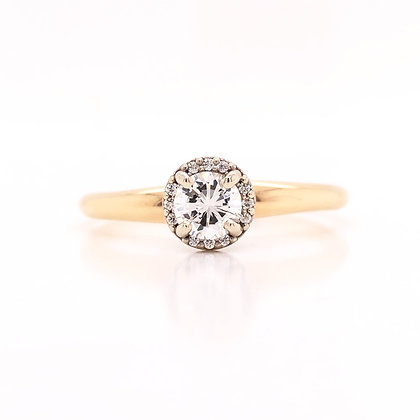 14K Two-Tone Solitaire Engagement Ring