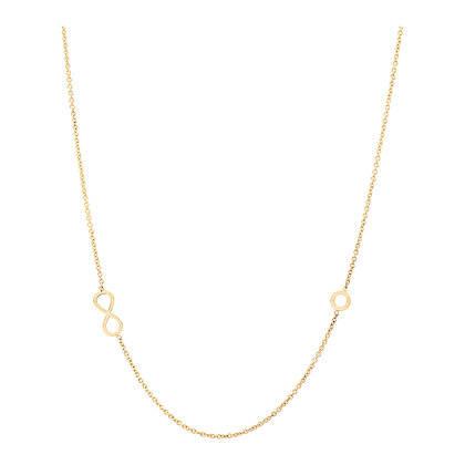 14KY Infinity & Circle Necklace